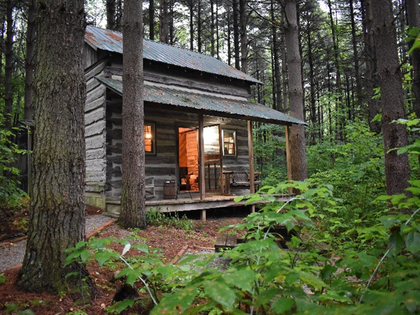 Green Log Cabin