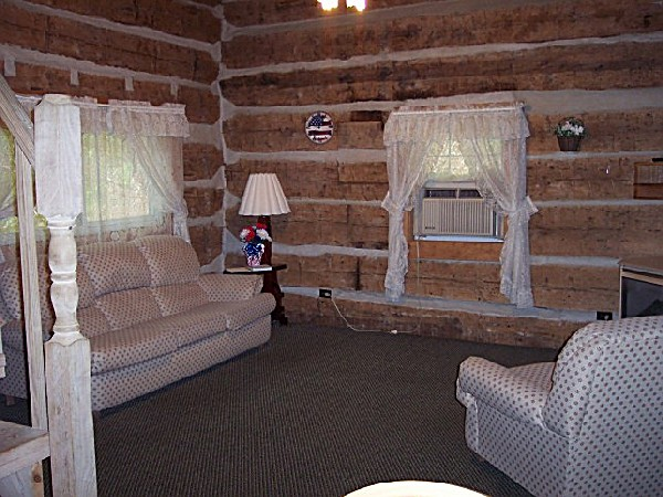 Old Glory Log Cabin